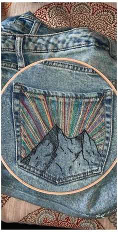 Embroidery On Clothes, Simple Embroidery, Shirt Embroidery, Hand Embroidery Designs, Embroidery Hoop Art, Embroidery Stitches, Embroidery Patterns, Rose Embroidery, Knit Patterns