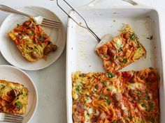 Spaghetti-and-Meatballs Casserole recipe from Food Network Kitchen via Food Network