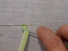 how to make a ribbon stitch with a curled up tip
