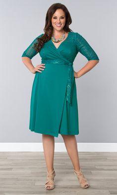 Check out the deal on Ravishing Lace Wrap Dress at Kiyonna Clothing