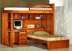 beliche/treliche flávio móveis gramado 98l x 2,01p x 2,20a Loft Beds For Teens, Bunk Bed Designs, Wooden Lamp, Room Closet, Room Themes, Bunk Beds, Corner Desk, My House, Kids Room