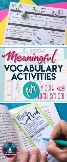 Older students need meaningful practice with their vocabulary words in order to increase the likelihood of retention. Try these differentiated, brain-based vocabulary activities that are both meaningful and fun. #vocabularyactivities #highschoolenglish