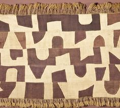 Kuba cloths, late 19th to early 20th century raffia palm plain weave from the Democratic Republic of Congo