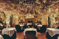 The Clos Maggiore has been voted the most romantic restaurant in London several times before. Moreover, the Clos Maggiore is very well known for two things: