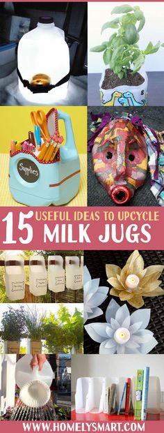 Make full use of what you buy with your money by upcycling them. This time, we're gonna explore the wonderful ideas you can have with milk jugs!