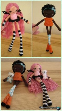 Crochet Amigurumi Long Leg Doll Free Pattern - Crochet Doll Toys Free Patterns