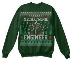Mechatronic Engineer Christmas Sweater Deep Forest  Sweatshirt Front