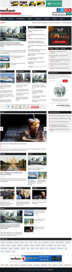 Slycore Responsive Flatstrap Blogger Template Template
