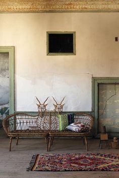 anthropologie springbok benches - Really fun. #anthrofave #juvenilehalldesign