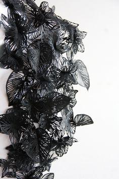 Châle, dentelle 2013 Lucie Leroux / Laboratoire Textile