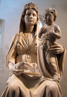 la madonna del melograno -Jacopo della quercia