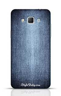 Texture Of Blue Jeans Textile Close Up Samsung Galaxy A5 Phone Case
