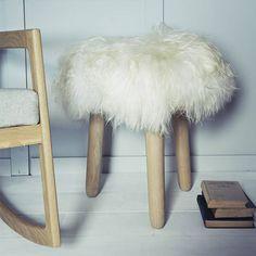 ebben wool topped stool by rowen & wren   notonthehighstreet.com