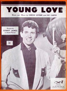 Young Love Original 1956 Sheet Music Sonny James Capitol Records. $12.50, via Etsy.