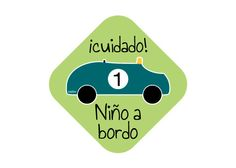 niño a bordo! original pegatina en verde de niño a bordo kids on board stickers