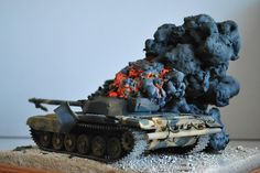 T-72 Burning 1/35 Scale Model
