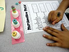 Monday News & Place Value Marshmallow Activity {first grade}