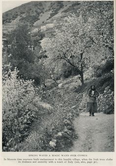 Cyprus 1928 blossom time | illustration,article Unspoiled Cy… | Flickr Cyprus Island, Nicosia Cyprus, North Cyprus, Island Nations, Rare Pictures, Ghost Towns, Greek Islands, National Geographic, Old Photos