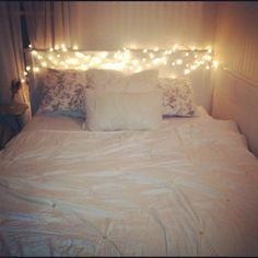My twinkle lighted bed :)
