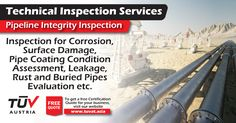 Pipeline Integrity Inspection. No compromise on safety. For further queries : tuvat.asia/get-a-quote or call Pakistan: +92 (42) 111-284-284 | Bangladesh +880 (2) 8836404 to speak with a representative. #ISO #TUV #certification #inspection #pakistan #iso9001 #bangladesh #lahore #karachi #dhaka #contract #safety #pipeline