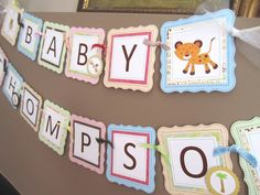 Adorable Baby Shower Banner. Great for nursery decor too.