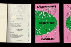 Designing another world,  Abstract (version anglaise)  de mon mémoire.  88 pages, 110 × 180 mm.