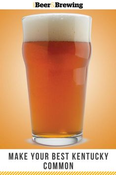 Kentucky Common is an amber-to-copper and modest-strength percent ABV) ale, with a simple grist comprising base malts and corn, with a touch of caramel flavor and a semi-dry finish. Homebrew Recipes, Beer Recipes, Beer Brewing, Home Brewing, Brew Your Own Beer, How To Make Beer, Best Beer, Ale, Beer