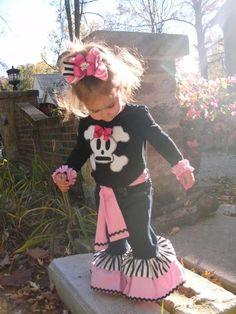 Pirate Skull N Bones Outfit for Girl $58.99 #pirate #skull