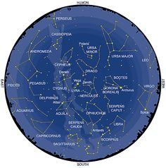 July Constellations - Northern Hemisphere