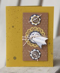 Love the way this card was made using the Boutique Boxes Designer Printed Kit from the Spring Catalog.