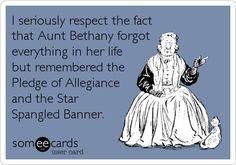 I love Aunt Bethany <3