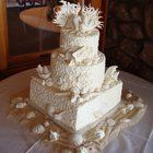 Just Desserts :: Outer Banks Wedding Cakes - Just Desserts Cake Gallery - Beach Theme - Seahorse Lace - pretty!