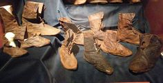 Shoes found in a well Buda Castle. Dated to approx. 1400. (Image source unknown)