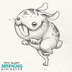Toofy rabbit! #morningscribbles