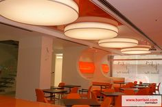 Barrisol allows the creation of any design of luminaires and ceiling lamps