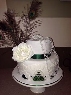 30th Birthday cake with handmade peone