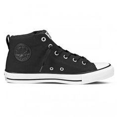Converse Chuck Taylor Street Sneaker High Mid Black mit schwarzem Logo