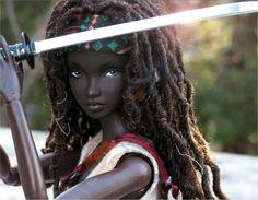 Michonne (Walking Dead) Doll by Peewee Parker