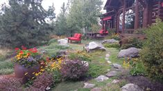 Suggestions to Help You Decide Where Rocks, Stones and Pebbles Fit right into an Outdoor Space Landscaping A Slope, Landscaping Company, Landscaping With Rocks, Landscape Bricks, Landscape Design, Boulder Rock, Rocks For Sale, Rock Decor, Rock Design