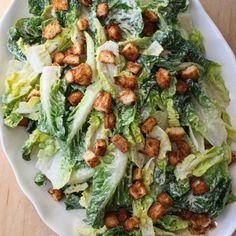 """<p>It's a gluten-free, dairy-free, egg-free version of this classic salad. Finally, you can eat it again!Recipe <a href=""""http://fromjessicaskitchen.com/classic-caesar-salad-gluten-free-dairy-free-egg-free-soy-free/"""">here</a>.</p>"""