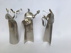 Stainless Steel Sculpture - TRIO Gift tri figure self standing