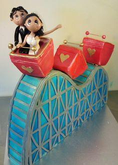 Roller Coaster Cake Art