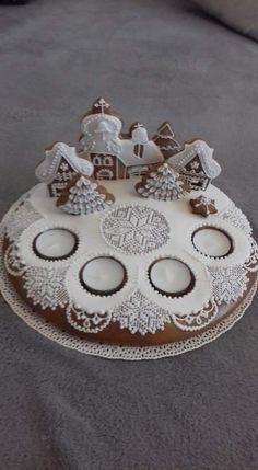 Christmas Sweets, Christmas Baking, Christmas Cookies, Christmas Time, Christmas Crafts, Christmas Decorations, Gingerbread House Template, Gingerbread Cookies, Cake Cookies