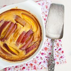 One of the best desserts; nectarine clafoutis