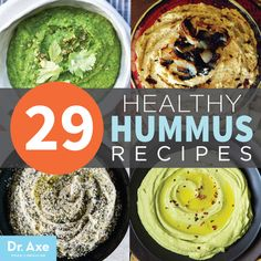 You scream we scream we all scream for HUMMUS! 29 Healthy Hummus Recipe Ideas found from Dr Axe!