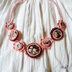 Crochet necklace Isabela/ Háčkovaný náhrdelník Isabela