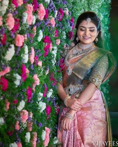 Latest Bridal Saree Designs are Pastel Shades of Kanjeevaram Bridal saree collection. Peach shade sarees, Lilac bridal sarees, Purple kanchipuram sarees, Turquoise Sarees, Mint shade saree designs and many more collection in handloom sarees South Indian Wedding Saree, Indian Bridal Sarees, Bridal Silk Saree, Indian Bridal Outfits, South Indian Bride, Indian Beauty Saree, Saree Wedding, Silk Sarees, Kanjivaram Sarees
