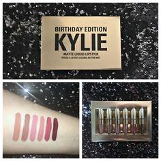 Kylie Cosmetics Birthday Edition Mini Matte Liquid Lipsticks | Review + Swatches
