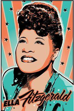 Ella Fitzgerald Pop Art Print 13x19 by RedRobotCreative on Etsy, $25.00