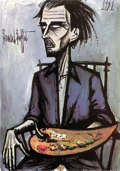 Bernard Buffet Autoportrait 16 - 1981 oil on canvas - 116 x 81 cm